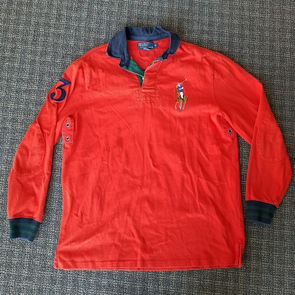 4f3f72b22ee7 Polo Ralph Lauren Long Sleeve Rugby Shirt Big Pony.  M 5c19c476035cf15168667d78